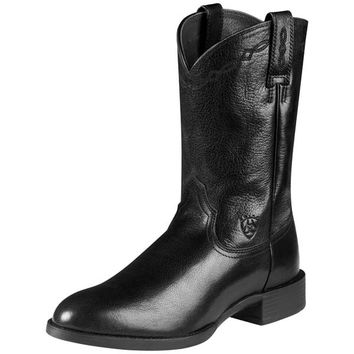 Ariat Men's Heritage Roper Boots - Black Onyx - 10008813