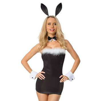 Born To Serve Bunny Halloween Costume LAVELIQ