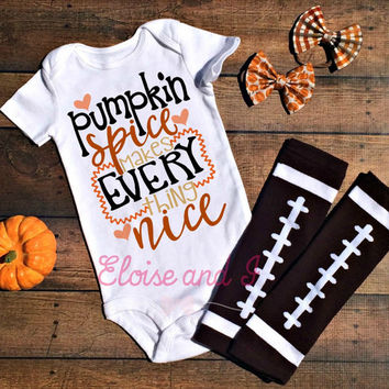 pumpkin spice shirt, pumpkin spice bodysuit, pumpkin spice and everything nice, pumpkin spice baby, pumpkin spice season, baby girl bodysuit
