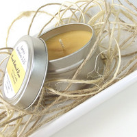 Sweet Buttered Rum scented Soy Candle Tin - Hand Poured Soy Candle -- 4 ounce Tin