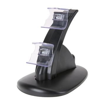 LED Dual Controller Stand Holder Charger Fast Charging Dock Station Handle w/ USB Charging Cord for Xbox One Wireless Controller