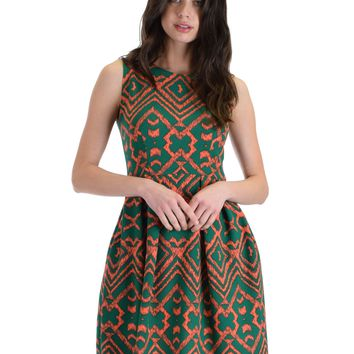 Lyss Loo I'm Smitten Print C Mixed Print Skater Dress With Pockets