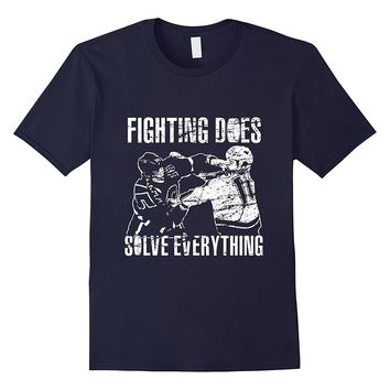 Funny Hockey T-Shirt | Fighting Does Solve Everything