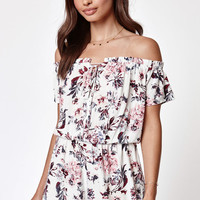 Kendall & Kylie Off-The-Shoulder Lace-Up Romper at PacSun.com