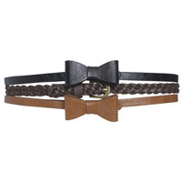 3 Bow Skinny Belt Set | Shop Accessories at Wet Seal