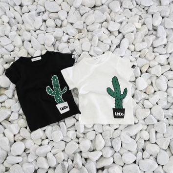 Baby Boy T Shirts Kids Cactus Printed Casual Cotton summer T-shirt
