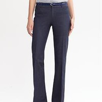 Sloan fit textured navy flare