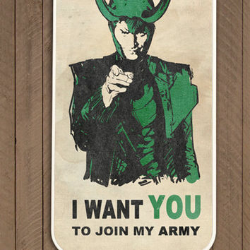 Iphone 4 / 4s hard or rubber case LOKI's ARMY , the Avengers, Thor