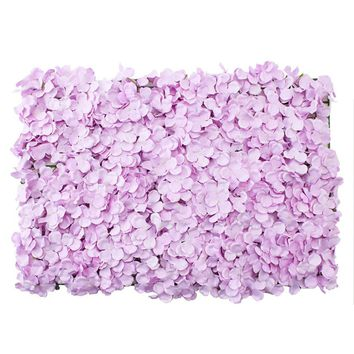 "Lavender Artificial Flower Tile Mat for Flower Walls - 24"" Long x 16"" Wide"