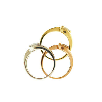 Diamond Ring/ 14kt Solid Yellow Gold Ring