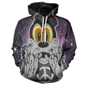 Trippy Goofy In Space Hoodie