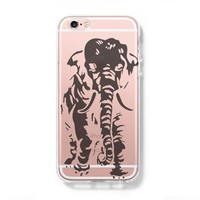 Elephant iPhone 6 Case, iPhone 6s Plus Case, Galaxy S6 Edge Clear Hard Case C032
