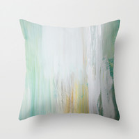 Misty Morning Throw Pillow by Sophia Buddenhagen