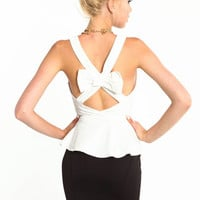 BOW WOW PEPLUM TOP