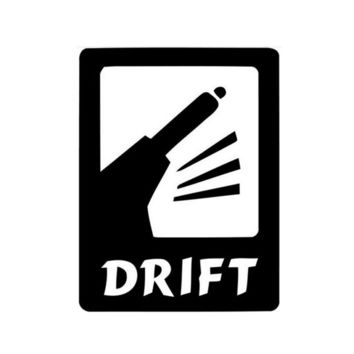 Drift JDM Sticker Car Sticker Wall Home Glass Window Door Laptop Auto Truck Vinyl Decal Car Styling Decor Black 11.4cmX14.8cm