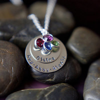 Grandma Jewelry - Mothers Day Gift - Personalized Necklace - Mommy Jewelry - Grandmother Gift -Birthstone Jewelry - Mothers Day