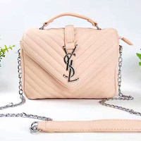 YSL  Lash package Woman shopping leather metal chain shoulder bag