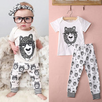 Funny Monster Style Baby Toddler Boys Clothes Sleepwear Pajama 2 pcs Set 1T-3T