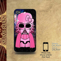 darth vader meets hello kitty nebula galaxy - iPhone cases 4/4S Case iPhone 5/5S/5C Case Samsung Galaxy S3/S4 Case