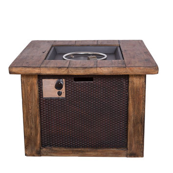 Michael Anthony Wood and Wicker Fire Pit