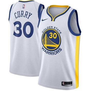 Stephen Curry Golden State Warriors # 30 Nike White Swingman Association Edition Jersey