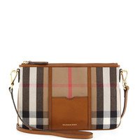 Check Canvas Crossbody Bag - Burberry