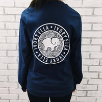 New 2016 Limited Edition Elephant Print Long Sleeve Women Tshirt
