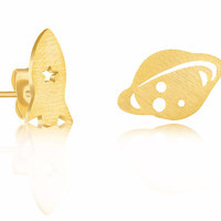 Rocket-Ship & Planet Stud Set