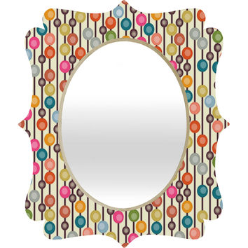 Sharon Turner Mocha Chocca Candy Bubbles Quatrefoil Mirror