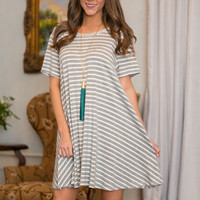 Wake Up Call Dress, Heather Gray