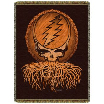 Grateful Dead Roots Stealie Woven Cotton Blanket