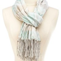 Woven Chevron Fringe Scarf by Charlotte Russe