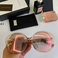 GUCCI 2018 new polarized round face big box driving women's round sunglasses #3