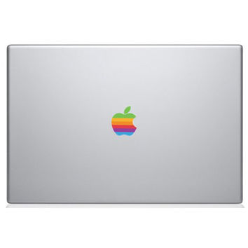 New Arrival Colorful Laptop Sticker Decal Skins for Macbook 11 13 15 Inch Sticker for Mac Book Rainbow Logo Sticker