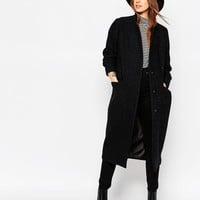 ASOS Coat in Relaxed Oversized Fit with Stand Collar