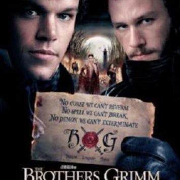 Brothers Grimm Movie poster Metal Sign Wall Art 8in x 12in