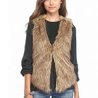 Me Jane Basic Faux Fur Vest - Belk.com