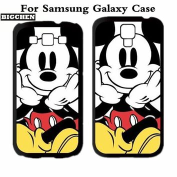 New Mickey Mouse Protective Cover Case For Samsung Galaxy Note 2 3 4 5 S3 S4 S5 S6 S7 edge A J Series MINI Grand Prime Note edge