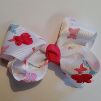 Pink Butterfly Bow