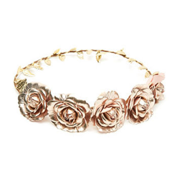 Metallic Flower Crown
