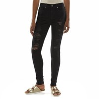 Mudd High-Rise Juniors' Skinny Jeans, Size:
