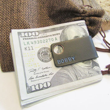 Mens Wallet Slim Wallet Money Clip Handmade Wallet Money Clip Holder Handcrafted Wallet Cash Keeper Minimal Wallet Clip Billfold Personalize