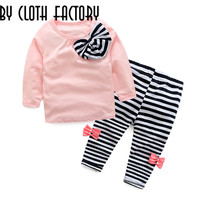 New 2016 autumn children clothing suits girls clothing set baby girl clothing set sportswear set girl casual suit Free Shipping