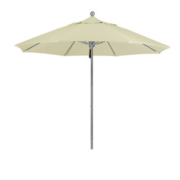 9 Foot 4A Sunbrella Fabric Aluminum Pulley Lift Patio Patio Umbrella with Silver Pole