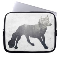 Woods in the Fox Silhouette Laptop Sleeve