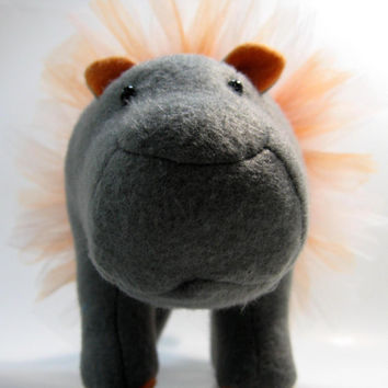 Florabelle the Hippopotamus, small, mini, stuffed animal, plush, fleece