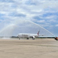 Emirates' inaugural flight from Dubai to London Stansted | Aviation
