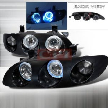 MAZDA 1993-1997 MAZDA MX6 HALO PROJECTOR HEAD LAMPS/ HEADLIGHTS 1 SET RH&LH   1993,1994,1995,1996,1997