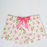 A Bedtime of Roses Sleep Shorts | Mod Retro Vintage Underwear | ModCloth.com