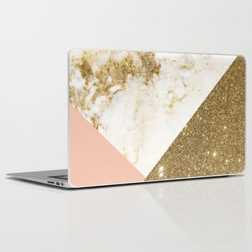 Gold marble collage Laptop & iPad Skin by Cafelab | Society6